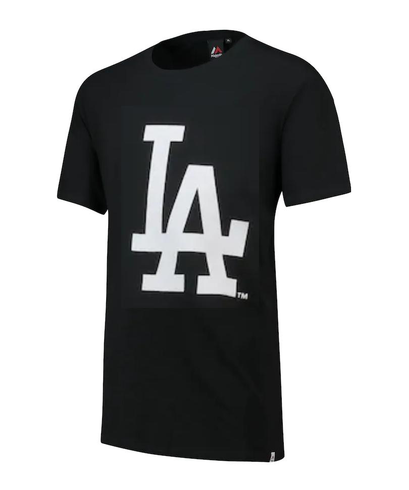 Los Angeles Dodgers T-Shirt Men's MLB Baseball Prism Long Line T-Shirt - New