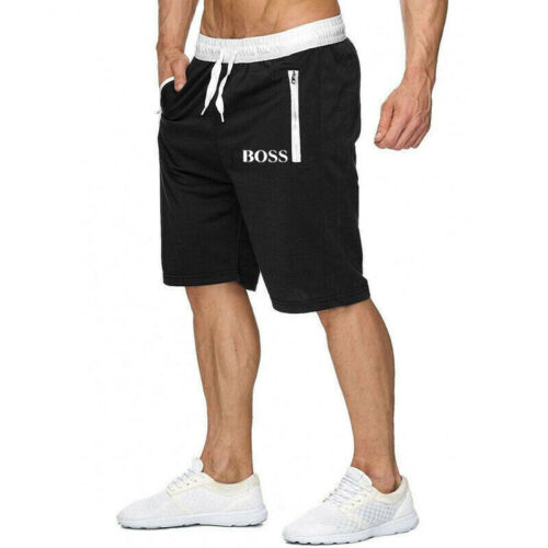 Mens Running Sports Jogging Zip Pockets Gym Shorts Summer Trousers Bottoms Pants