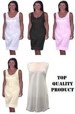 Responsabile Onorevoli Piena Lunghezza Slip Petticoat Sottogonna Dimensioni 12-32 Vari Colori-mostra Il Titolo Originale