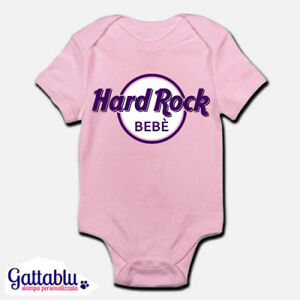 Body-pagliaccetto-neonata-bimba-bebe-Hard-Rock-Bebe-divertente-personalizzabile