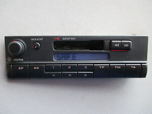 autoradio radio alpha vw polo 6n 6n2 lupo kassette tuner 6x0035153 ebay. Black Bedroom Furniture Sets. Home Design Ideas