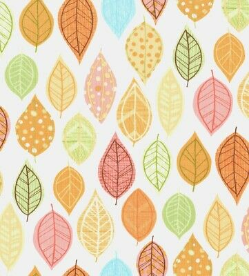 Timeless Treasures Owl be Seeing You Leaves Sorbet  Fabric BHY