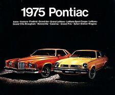 1975 Pontiac 20-page Sales Brochure LeMans Firebird Astre Grand Prix Bonneville