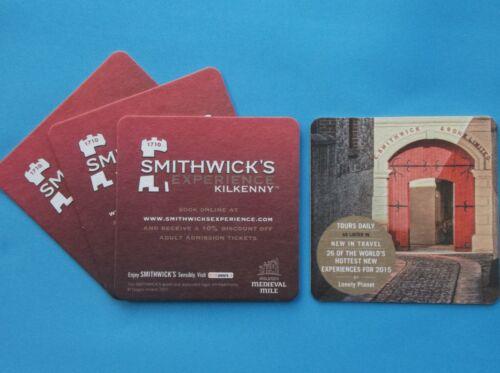 SMITHWICK/'S KILKENNY COASTER x 4 BEER MAT