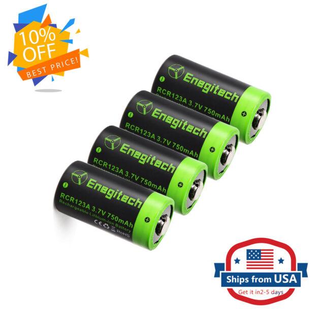 4X 3.7V RCR123A Rechargeable Li-ion Battery for Arlo Camera 750mah US Stock