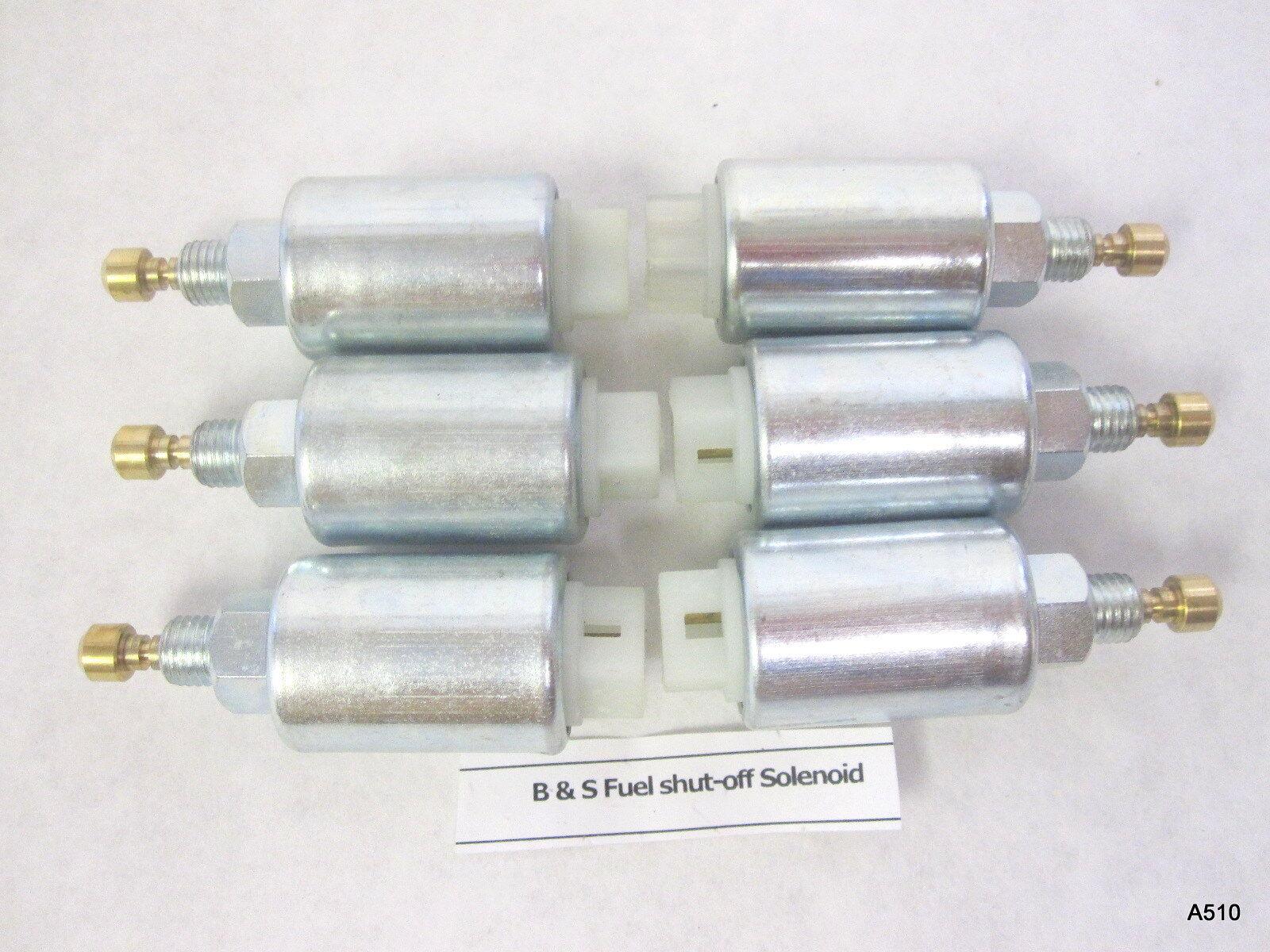 6 combustible cierre solenoides para Briggs Stratton 286702 2867 07 288702 288707
