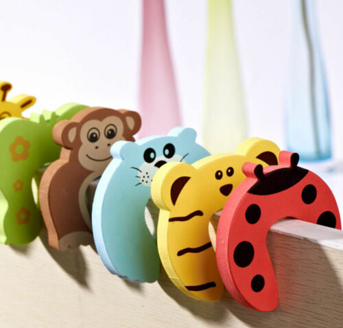 6pcs Baby Safety Door Stop Finger Pinch Guard Lock Jammer Stopper Protect RYJ