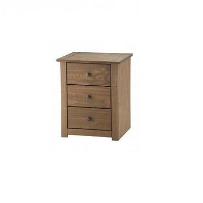 Mercers Furniture Panama 3 Drawer Bedside