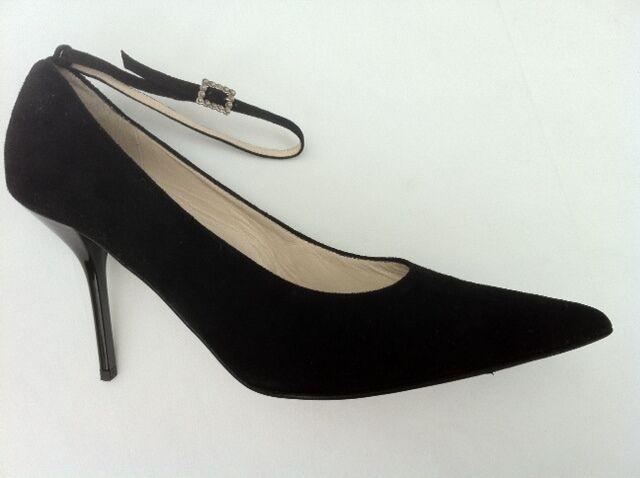 Descuento de liquidación ELEGANCE Pumps, High Heels,  9,5 cm, schwarzes Velourleder,  Gr. 40,5,   n e u