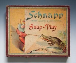 Schnapp-Neuestes-originelles-Gesellschaftsspiel-vermutlich-um-1920