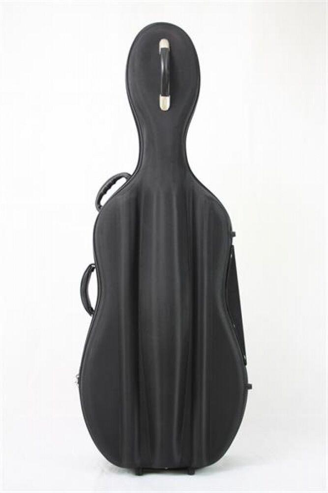 Petz Fieberglas 4 4 Cello Etui Case Tasche, m. Hartschaum-Nylon-Hülle, black
