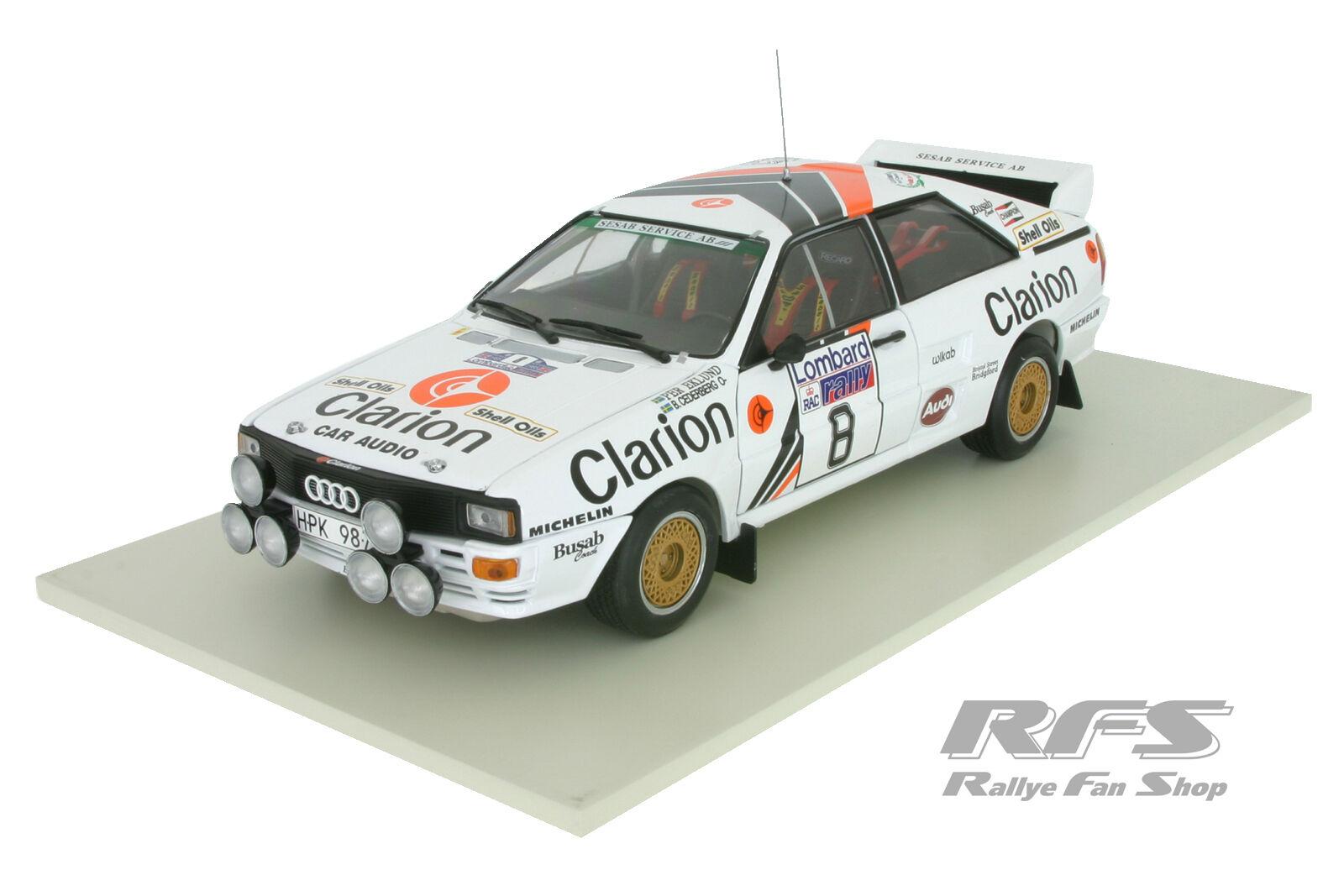 Audi Quattro A2 Team Team Team CLARION - Lombard RAC Rallye 1985 - Eklund - 1 18 SS 4242 1cae29