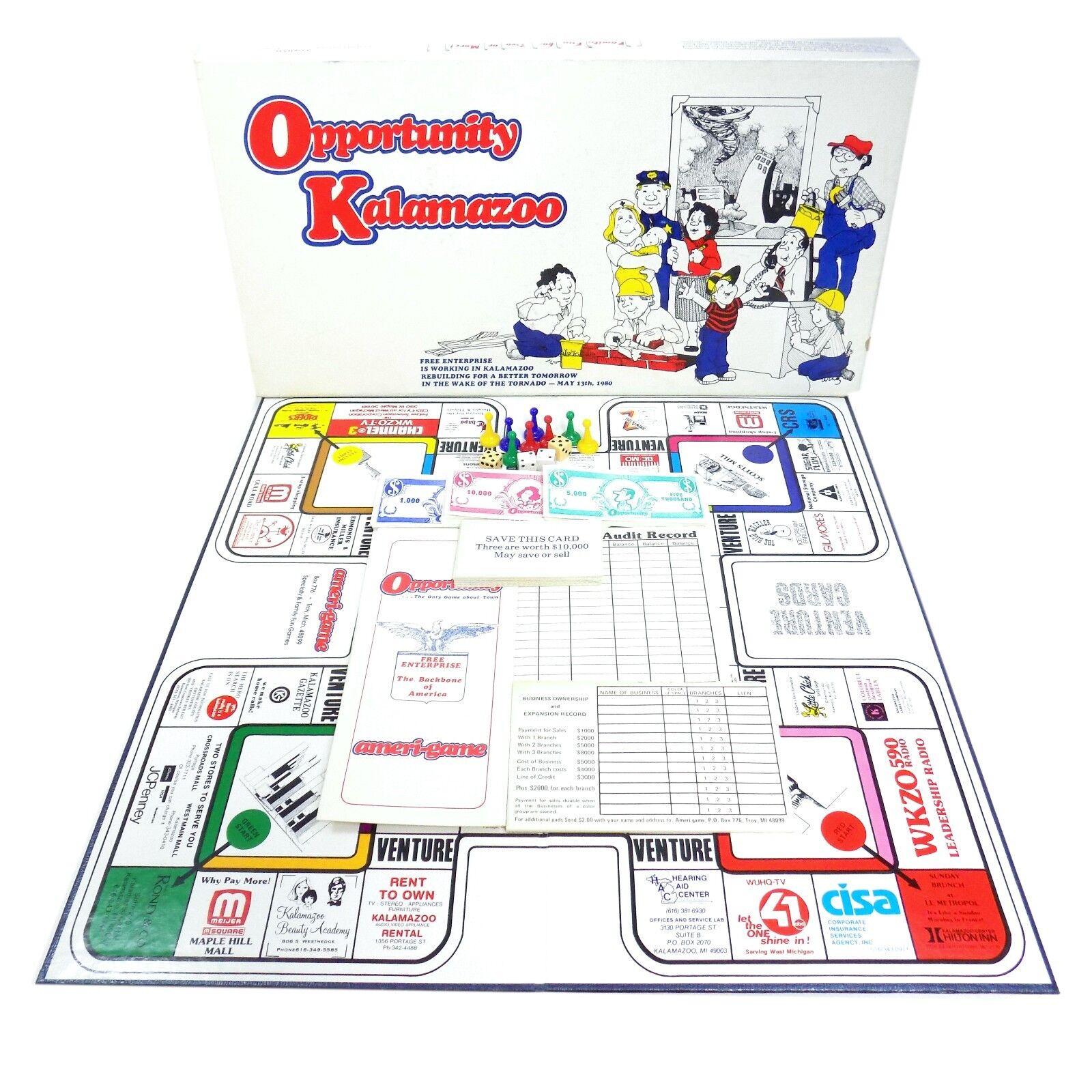 Vintage Board Game Opportunity Kalamazoo 1980 HTF Rare Ameri-Game