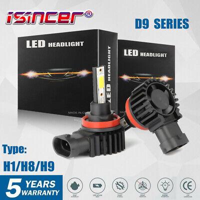 US H11 LED Headlight Super Bright Bulbs Kit 330000LM HI//LO Beam 6000K New
