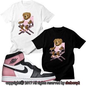 26635854f8e NEW CUSTOM T SHIRT Air Jordan 1 Black Toe In Pink matching TEE JD 1 ...