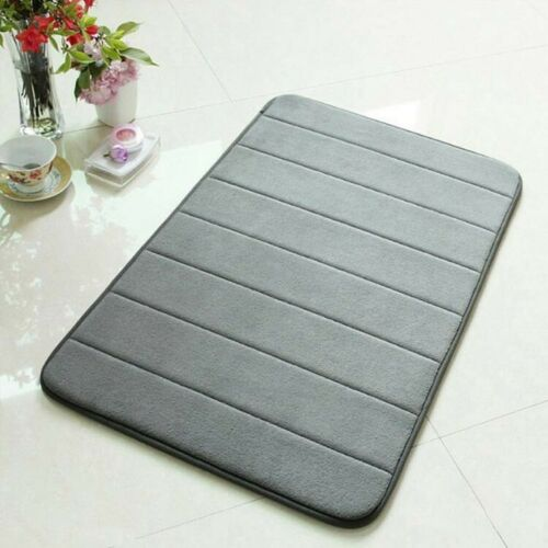 Memory Bath Mat Machine Washable Show Anti Slip Bath Rug with Strong Absorbent