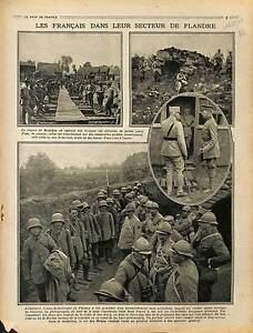 """Région Flandres Belgique Roi Alber Ier & Général Anthoine Prisonniers 1917 WWI - France - Commentaires du vendeur : """"OCCASION"""" - France"""