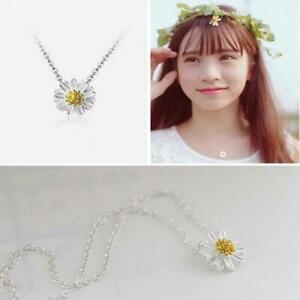 mode-chrysanthemen-frauen-schmuck-daisy-halskette-versilbert-kette