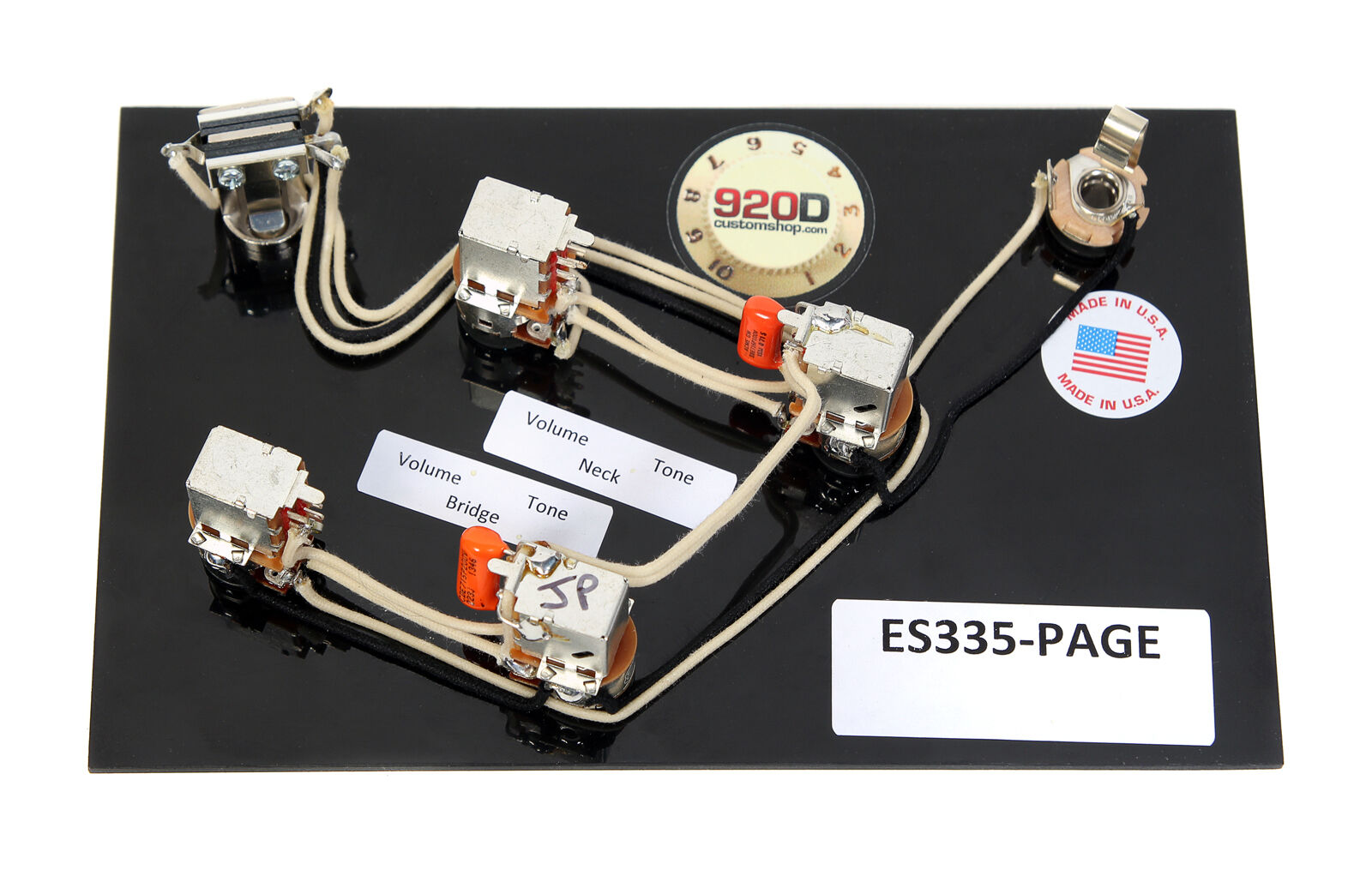 920d Gibson Es 335 Jimmy Page Wiring Harness With Switchcraft Bourns Guitar Diagram Orange Drop Ebay