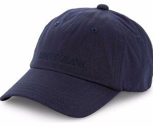 6ab77569194 Chargement de l image en cours ARMANI-JEANS-Logo-Signature-Coton-Casquette -Reglable-Casquette-