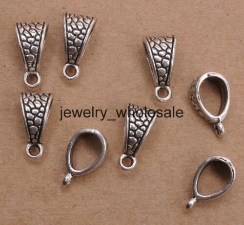 10pcs//100pcs Tibetan Silver Charm Pendant Bail Connector Fit Bracelet D3095