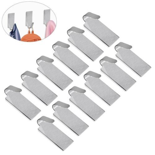 12er Selbstklebende Kleiderhaken Klebehaken Edelstahl Handtuchhaken Garderobe