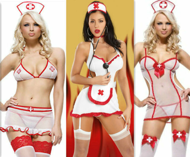 New Sexy Lady Nurse Outfit Vital Sign Costume Fancy Dress Erotic Teddy Lingerie