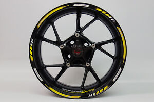 """LISERET AUTOCOLLANT 710004 GP-STYLE Racing 1000 Yellow Pour 16"""" 17"""" 18"""" Pouces  </span>"""