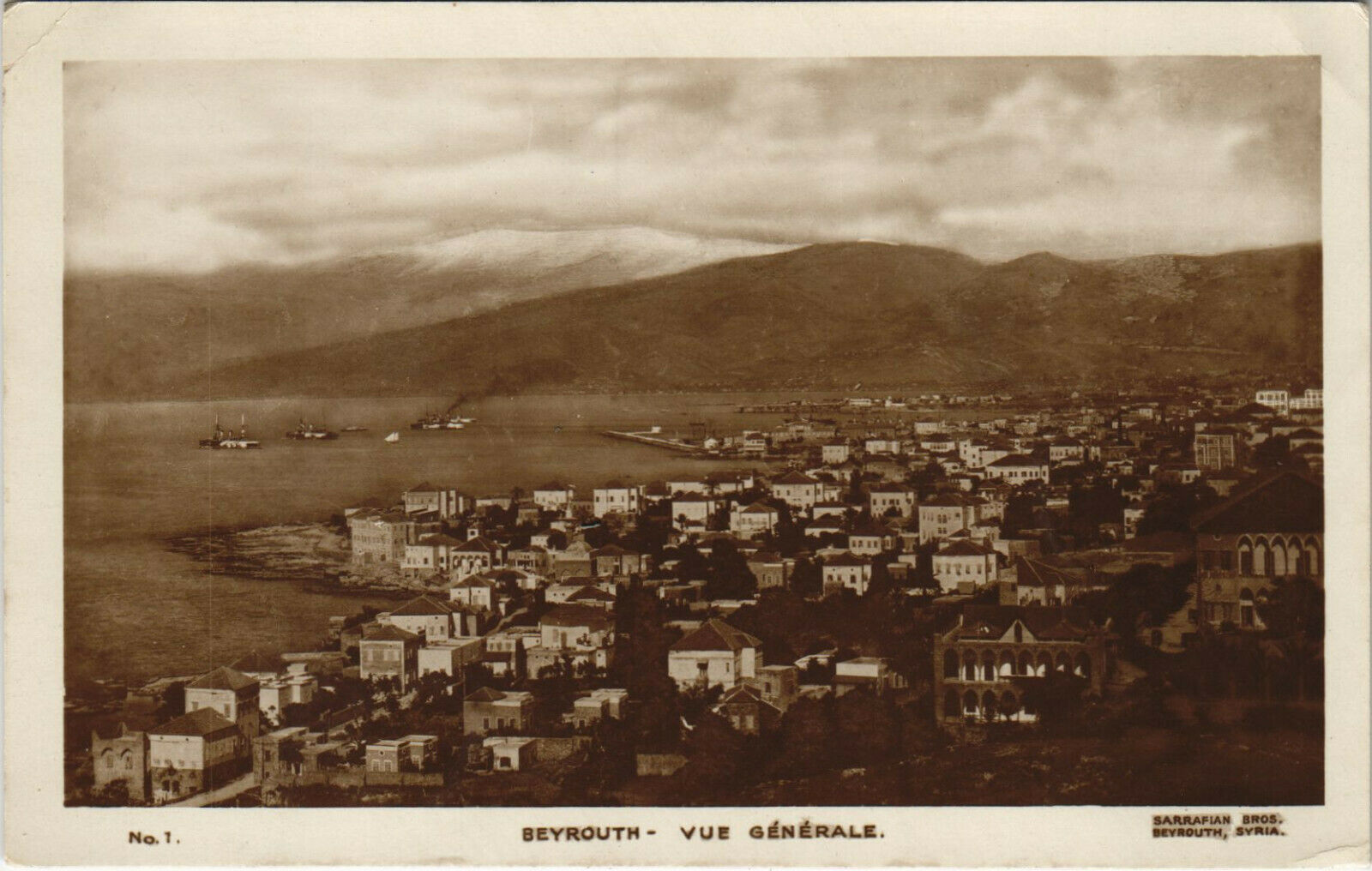 PC CPA LEBANON, BEYROUTH, VUE GENERALE, Vintage REAL PHOTO Postcard (b23145)
