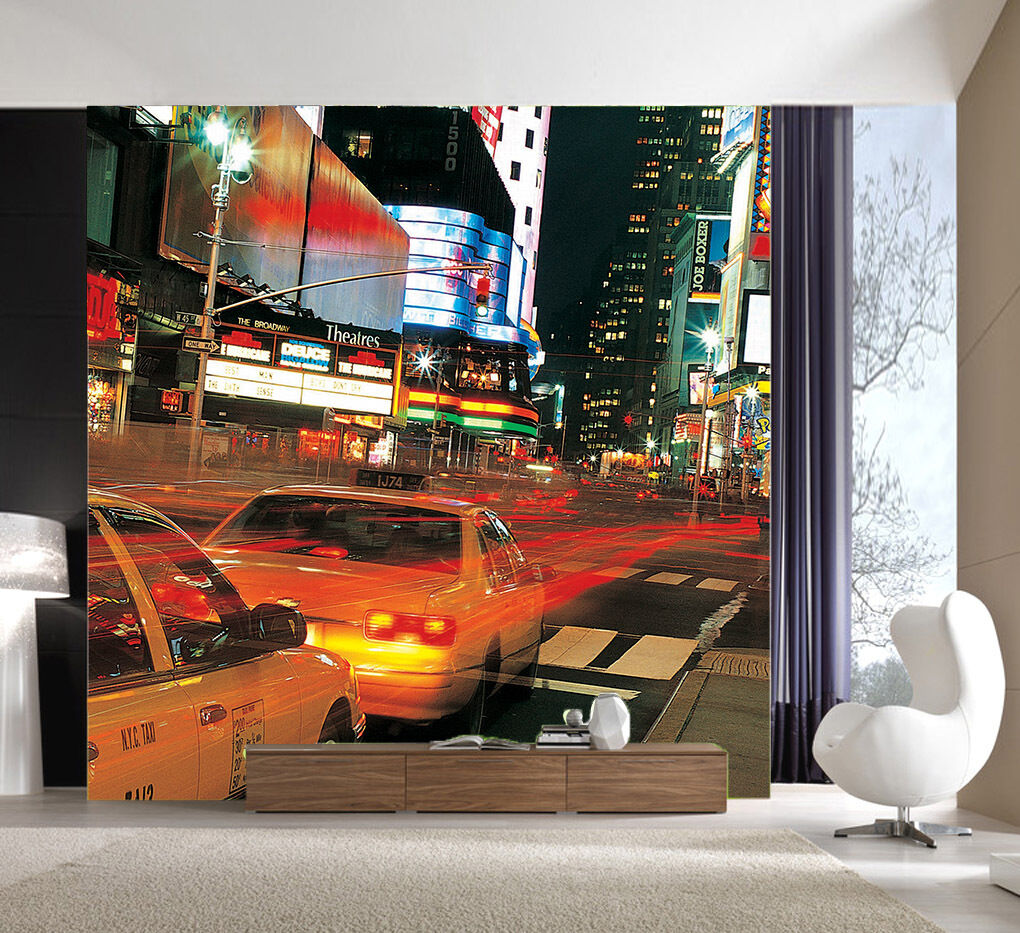 3D Auto Notte 57 Parete Murale Foto Carta da parati immagine sfondo muro stampa