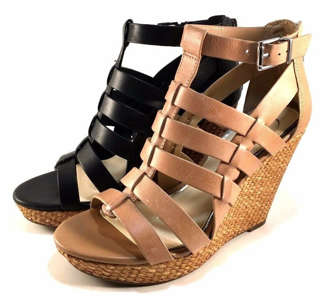 Jessica Simpson Jeyne Leather Platform Wedge Closed Back Sandals Choose Sz color