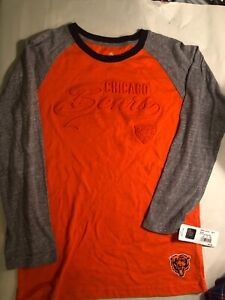 detailed look 85259 5a596 Details about Orange and Gray NFL Chicago Bears Long Sleeve T-Shirt Size  Youth Medium (8/10)