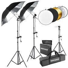 Neewer 600W 5500K Photo Studio Black/Silver Umbrella Continuous Lighting Kit