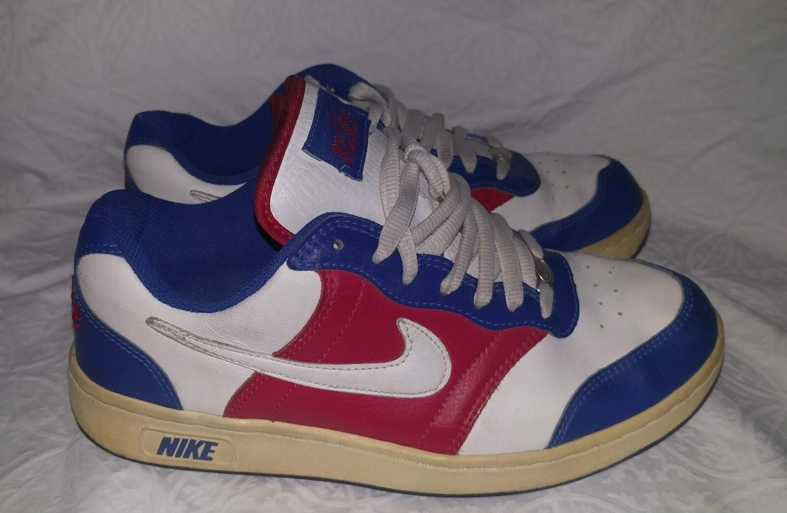 Vintage Nike Shoes 2018 Retro Nike LA CLIPPERS 8.5 Red White & Blue Leather