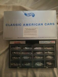 HOT-WHEELS-Classic-American-Cars-16-CHROME-CLASSIC-CAR-SET-W-Case-box-1995-rare