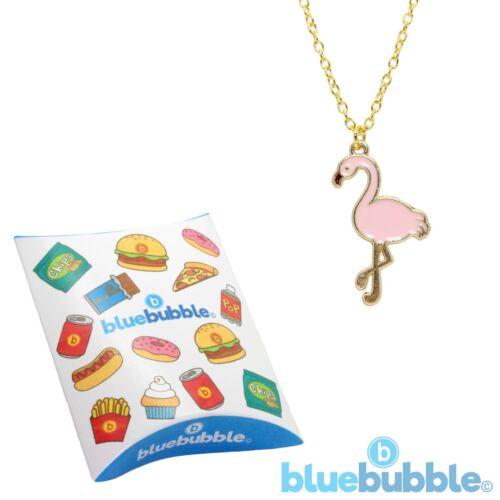 Bluebubble FLAMINGO FUN Necklace Funky Bird Cute Kitsch Animal Retro 80s Novelty