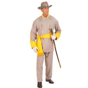 Südstaaten General Kostüm Armee Uniform Soldatenkostüm Herren Militär Offizier