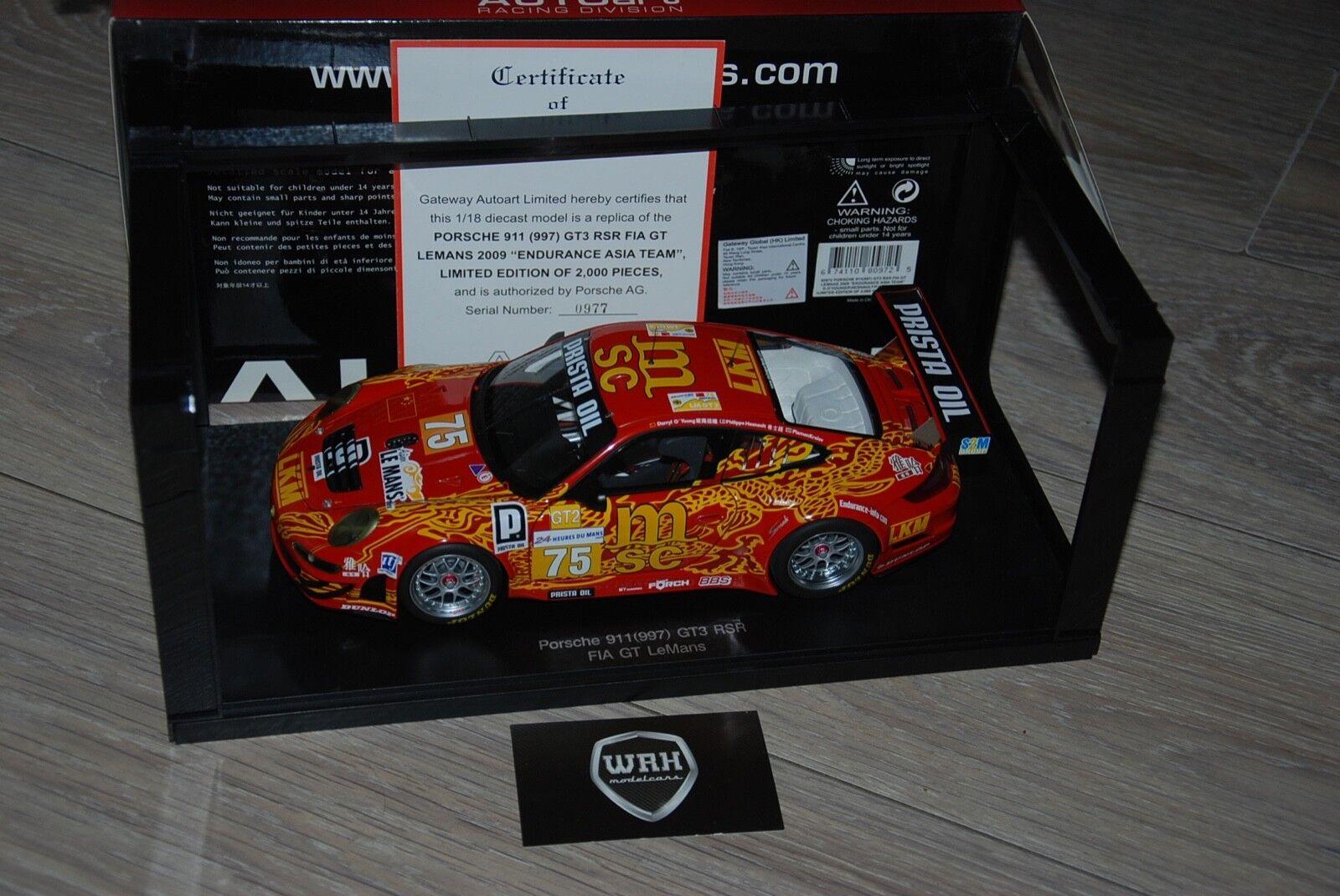PORSCHE 911 GT3 FIA LEMANS MSC Autoart 1 18 IN BOX
