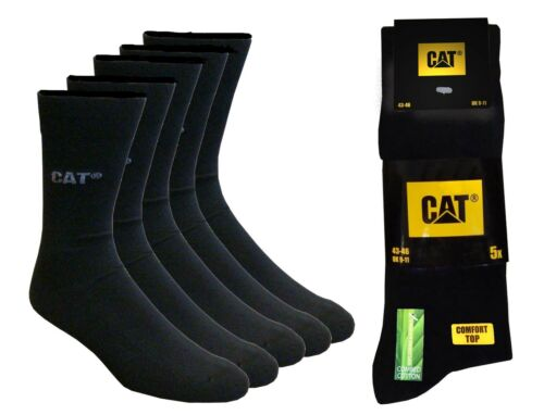 CAT Caterpillar 20 PAIA CALZE TG Nero 47-50 Calze business da uomo
