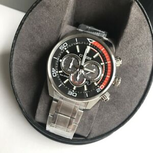 Citizen-Eco-Drive-Watch-Solar-Chandler-Chrono-Black-amp-Silver-Steel-CA4330-57E