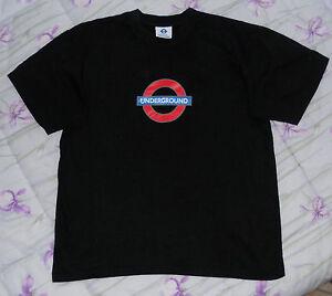 Maglia-t-shirt-UNDERGROUND-nera-official-merchandise-100-cotone-taglia-M-unisex