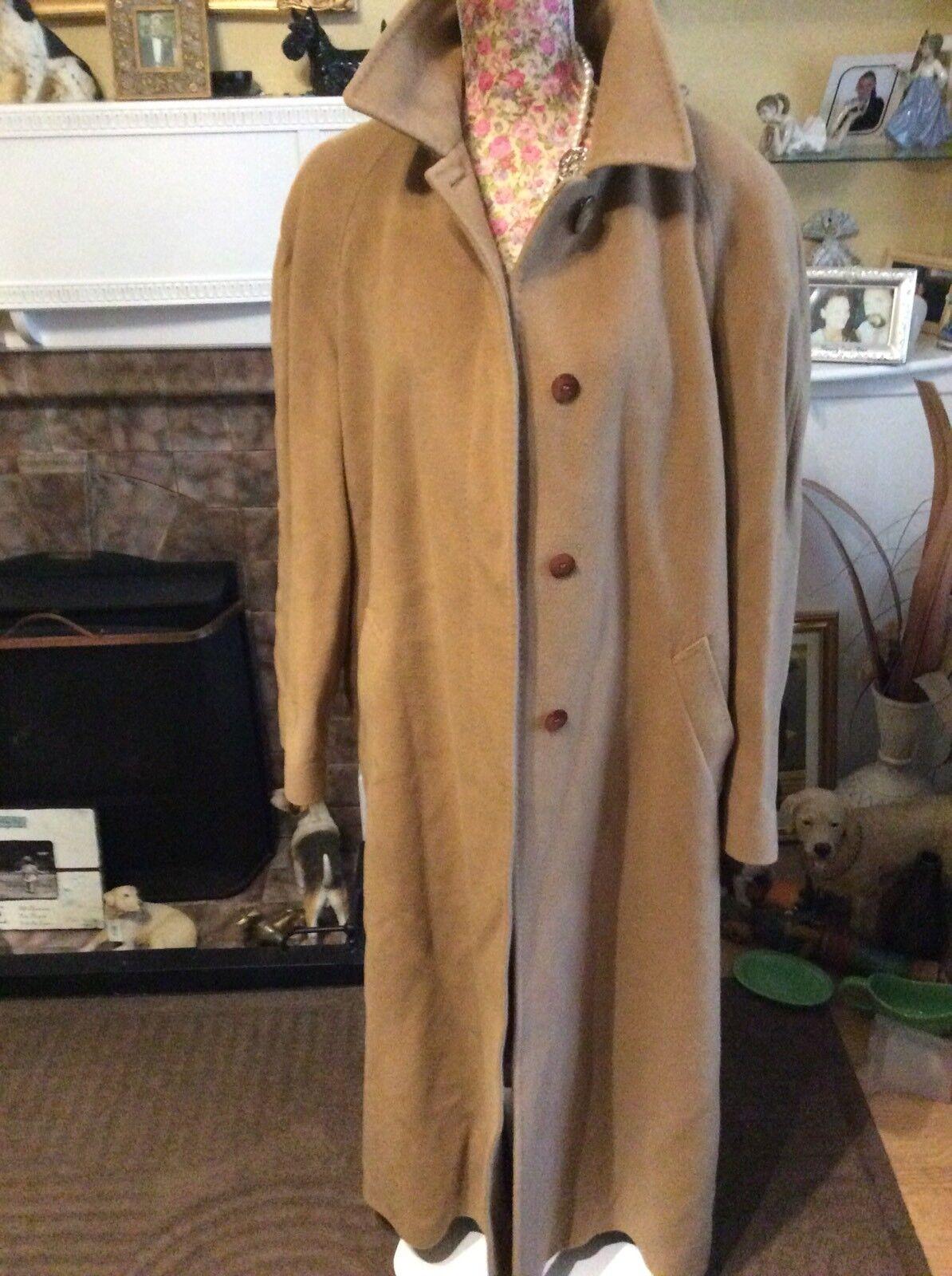 Italian Quattro 60% Wool 10% Cashmere Fabulous Coat Size 14 Ec