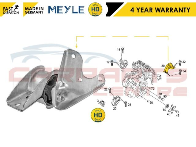 Blue Print Engine Mounting Smart Cabrio model 450 City Coupe Fortwo ADU178001