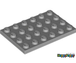 Lego 4x Platte 4x6 Hell Grau Light Bluish Gray Plate 3032 Neuware New
