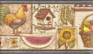 Image Is Loading OUR GREAT COUNTRY PATRIOT KITCHEN ROOSTER Wallpaper