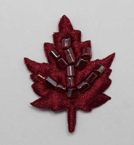 Satin Beaded Leaf Sew On Embellishments Available 15 Different  Colours
