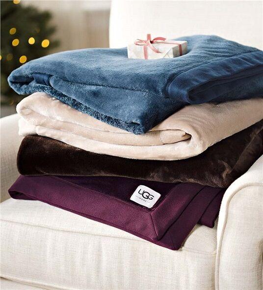 """NOUVELLE UGG Australia Duffield Throw Blanket 50 \""""x70\"""" / COULEUR Port Grande idée cadeau ~"""