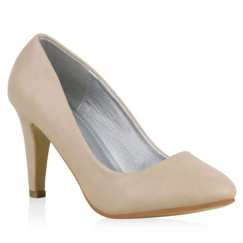 Hochzeit Damen Abiball Pumps Business High Heels Stilettos 814295 Mode