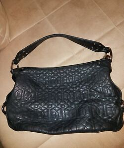 Image Is Loading Donald J Pliner Rich Black Quilted Leather Luxury