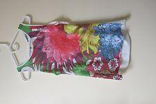 DESIGUAL multi colored floral sequins tank top tshirt size L